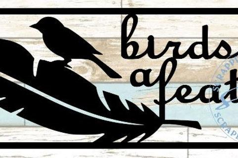 Birds Of A Feather Scrapbook Title