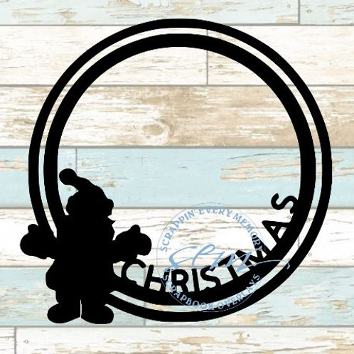 Christmas Circle Scrapbook Overlay