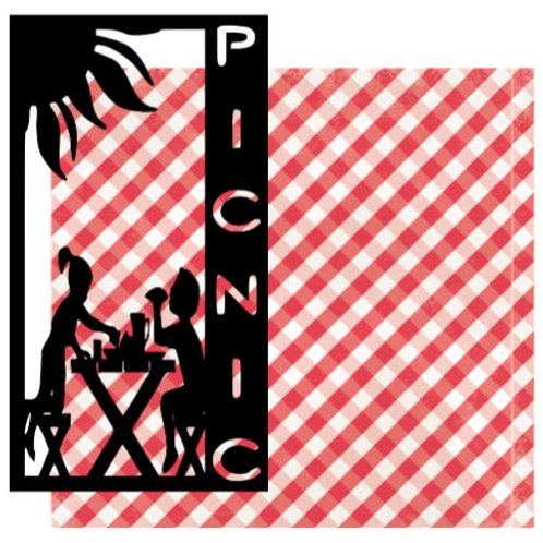 Picnic Vertical Scrapbook Title