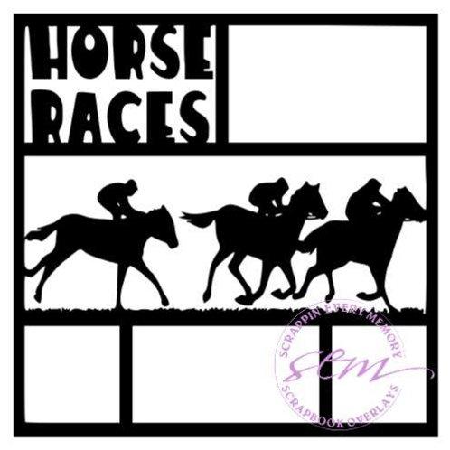 Horse Races Scrapbook Overlay
