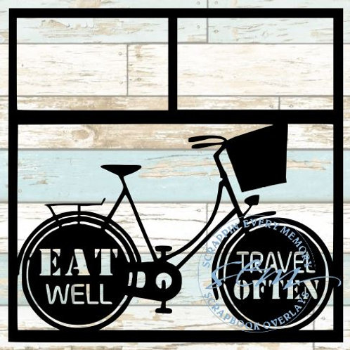 Eat Well Travel Often Scrapbook Overlay