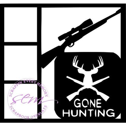 Gone Hunting Scrapbook Overlay