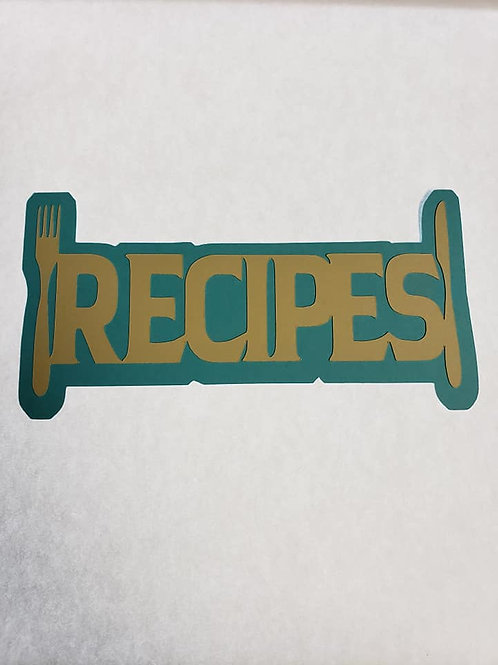 Recipes Paper Piecing Die Cut