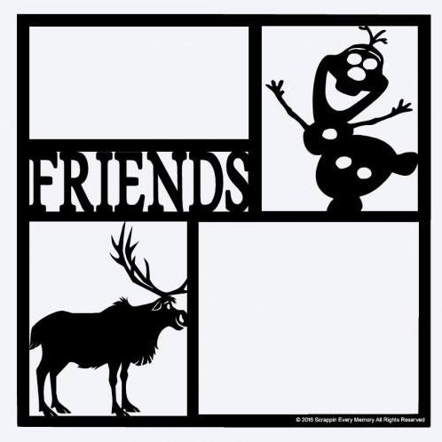 Sven & Olaf Friends Scrapbook Overlay