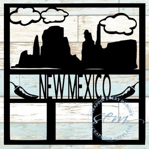 New Mexico Scrapbook Overlay