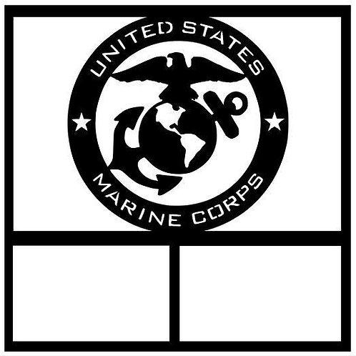United States Marine Corps Scrapbook Overlay
