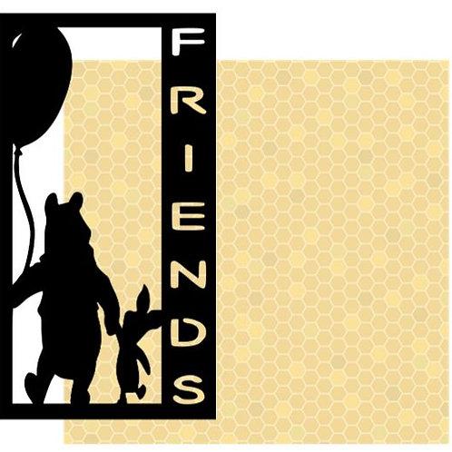 Friends Vertical Scrapbook Title