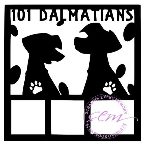 101 Dalmatians Scrapbook Overlay