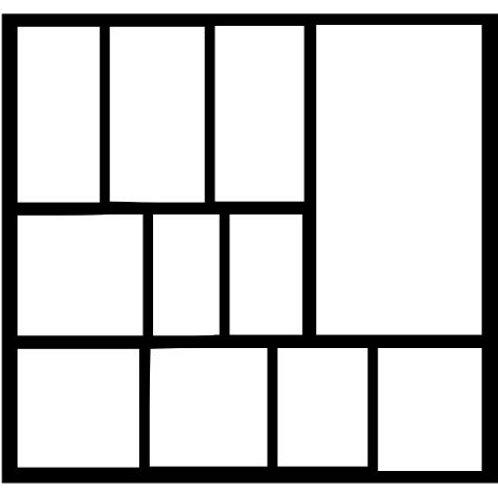 Frame 408 Scrapbook Overlay