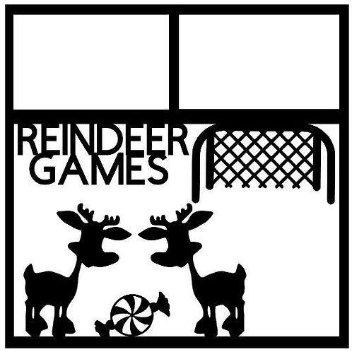 Reindeer Games Scrapbook Overlay