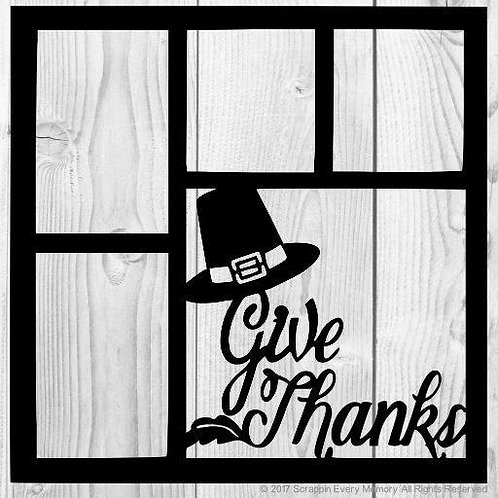 Give Thanks Scrapbook Overlay