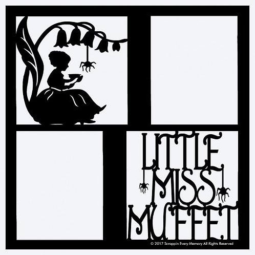 Little Miss Muffet Scrapbook Overlay