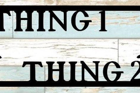 Thing 1 Thing 2 Scrapbook Title