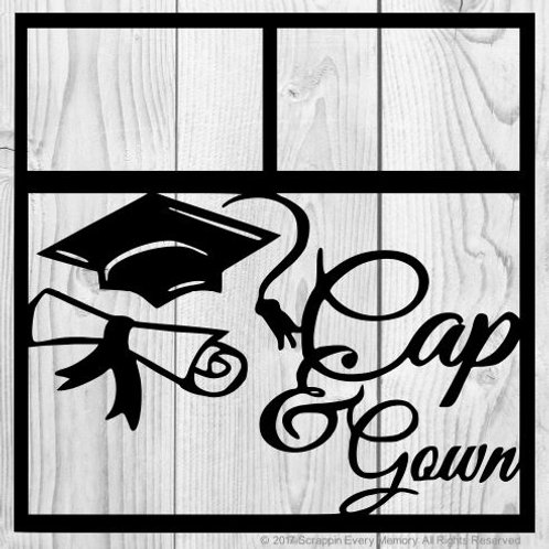 Cap & Gown Scrapbook Overlay