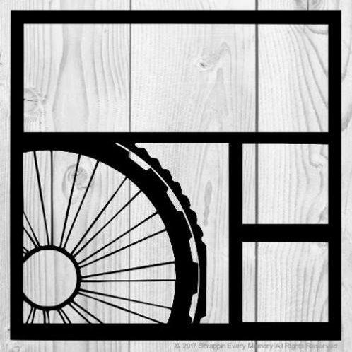 Bike Tire Scrapbook Overlay