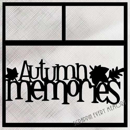 Autumn Memories Scrapbook Overlay