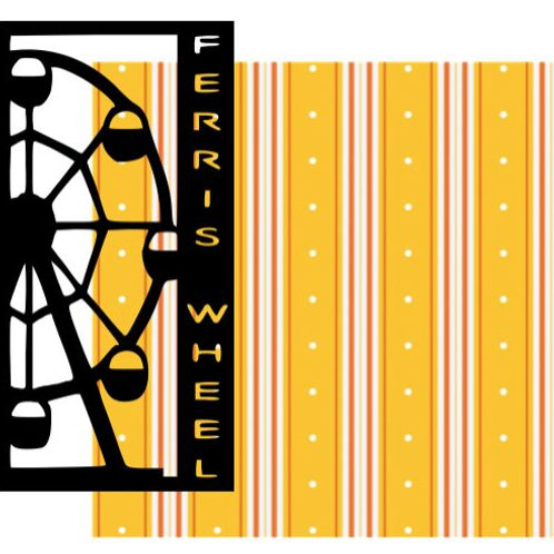 Ferris Wheel Vertical Scrapbook Title