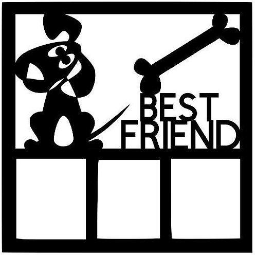 Best Friend Scrapbook Overlay