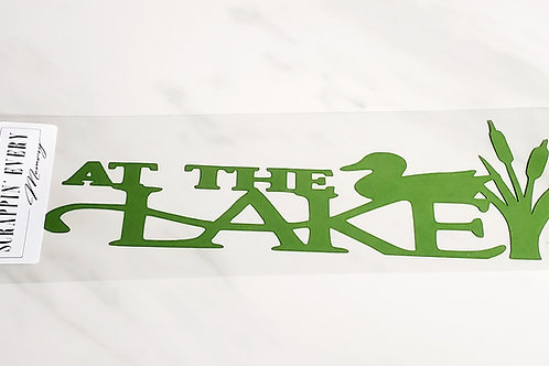 At The Lake Scrapbook Deluxe Die Cut
