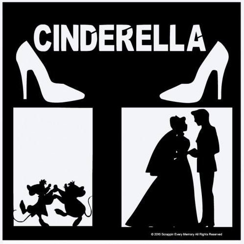 Cinderella Scrapbook Overlay