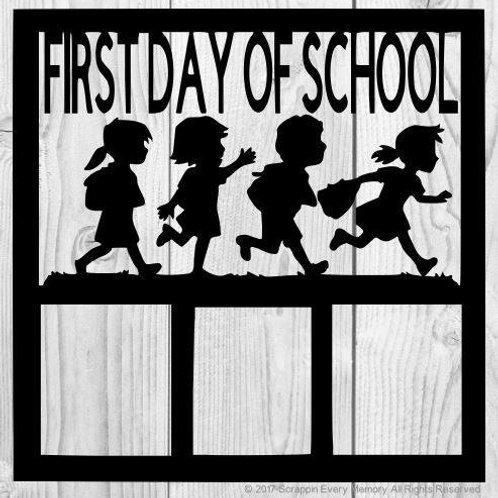 First Day Of School Scrapbook Overlay