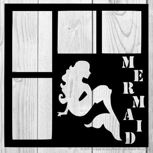 Mermaid Scrapbook Overlay