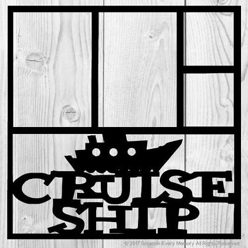 Cruise Ship Scrapbook Overlay