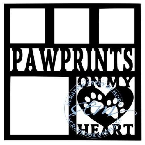 Pawprints On My Heart Scrapbook Overlay