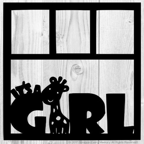 It's A Girl Scrapbook Overlay