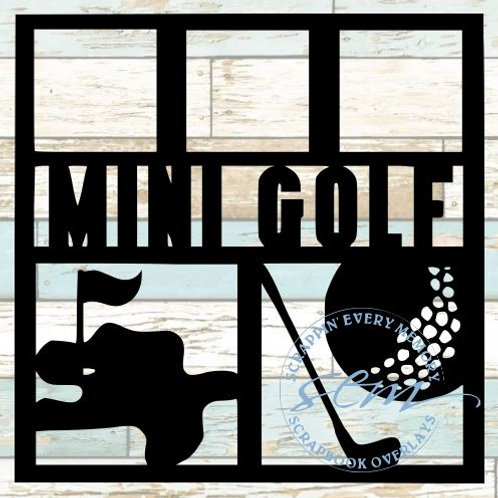 Mini Golf Scrapbook Overlay