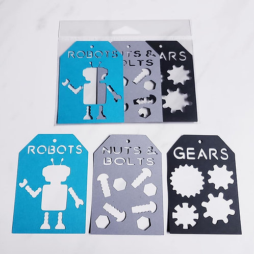Robot Deluxe Word Tags