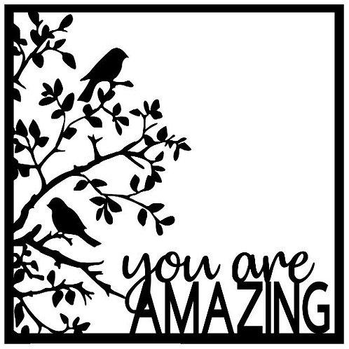 You Are Amazing Scrapbook Overlay