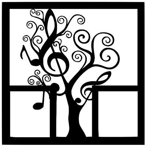 Music Tree Scrapbook Overlay