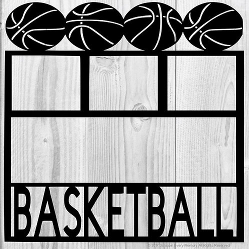 Basketball Scrapbook Overlay