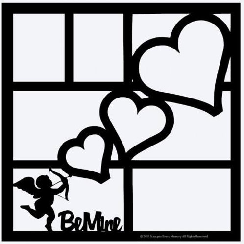 Be Mine Scrapbook Overlay