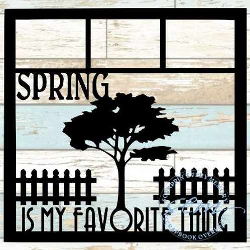 Spring Is My Favorite Thing Scrapbook Overlay