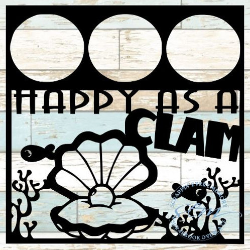 Happy As A Clam Scrapbook Overlay