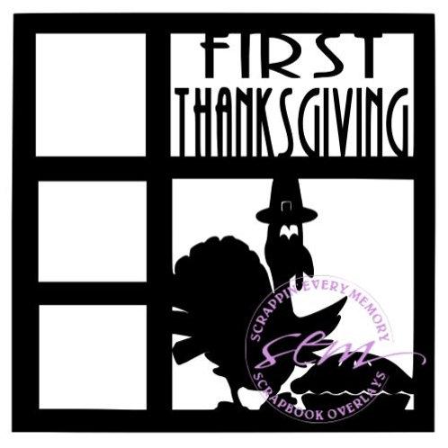 First Thanksgiving Scrapbook Overlay
