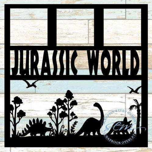 Jurassic World Scrapbook Overlay