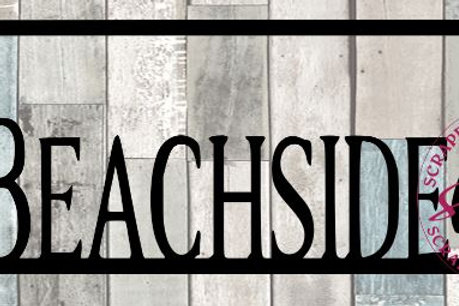 Beachside Scrapbook Title