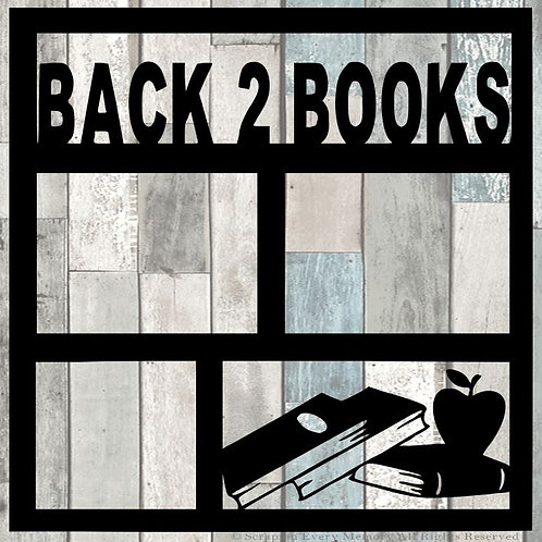 Back 2 Books Scrapbook Overlay