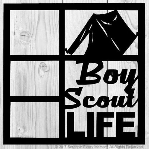 Boy Scout Life Scrapbook Overlay