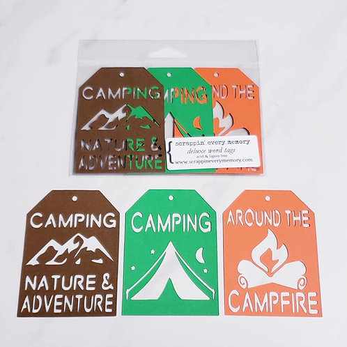 Camping Deluxe Word Tags