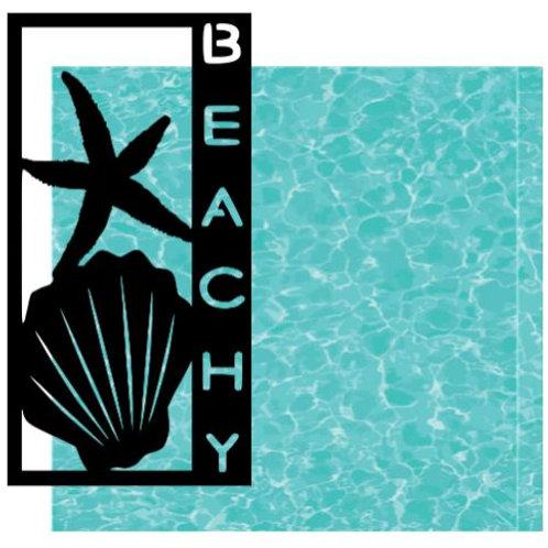 Beachy Vertical Scrapbook Title