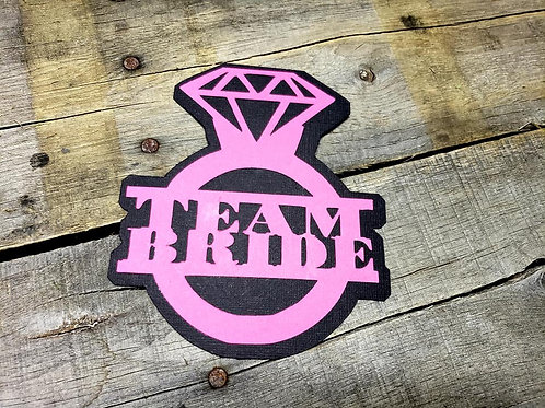 Team Bride Paper Piecing Die Cut