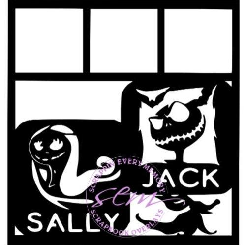 Jack and Sally Scrapbook Overlay