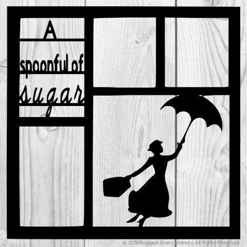 A Spoonful Of Sugar Scrapbook Overlay