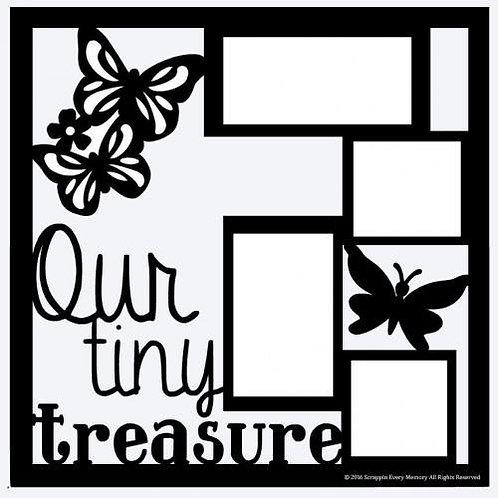Our Tiny Treasure Scrapbook Overlay