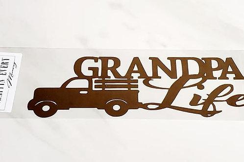 Grandpa Life Scrapbook Deluxe Die Cut