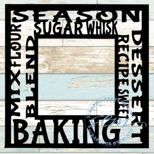 Baking Tag Text Scrapbook Overlay